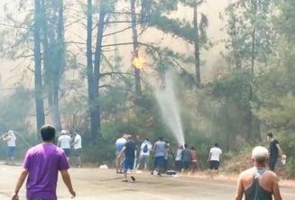 Stațiunile turistice din Turcia, sub semnul haosului din cauza incendiiilor devastatoare. Autoritățile dau vina pe rebelii kurzi VIDEO