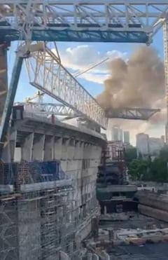 Stadionul lui Real Madrid, celebrul Santiago Bernabeu, a luat foc VIDEO