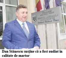 Stanescu, audiat ca martor