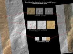 Statia orbitala NASA a descoperit o nava spatiala pe Marte