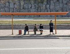 Statie de autobuz in Coreea de Nord