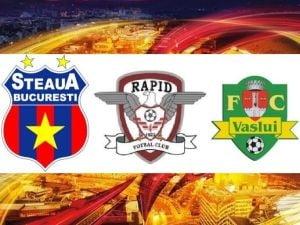 Steaua, Rapid si Vaslui isi joaca ultima sansa in Europa League