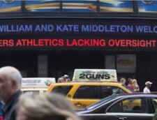Stirea ca Ducesa a nascut, in piata Times Square din New York