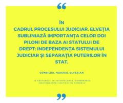 Strainii nu sunt informati corect in legatura cu situatia din Romania? Mesajul transmis de Guvernul Elvetiei despre Justitie
