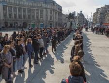 Studentii bucuresteni, la protestul #sieu din Piata Victoriei