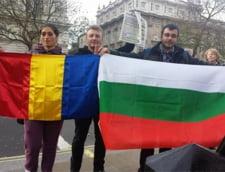 Studentii romani si bulgari au protestat in Londra: reclama ca sunt persecutati