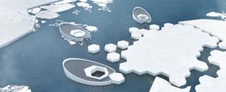 """Submarine care produc """"aisberguri"""" - solutia pentru a ingheta la loc Oceanul Arctic? (Video)"""