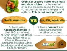 Subway, acuzat ca pune in chifle un compus folosit si la crema de ghete