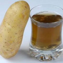 Sucul de cartofi, remediul cel mai simplu al bolii ulceroase