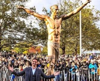 Suedezii au distrus complet statuia lui Zlatan Ibrahimovici