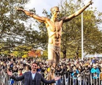 Suedezii au vandalizat statuia lui Zlatan Ibrahimovici