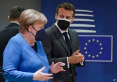 Summit UE: Macron constata ca sanctiunile contra Rusiei si Belarusului si-au atins limitele. Merkel subliniaza utilitatea dialogului cu Putin