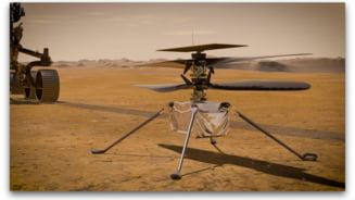 Sunetul elicopterului Ingenuity, aflat pe Marte, inregistrat pentru prima data