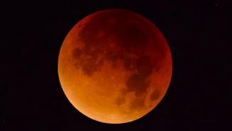 Super Luna sangerie se apropie. Cand se poate vedea fenomenul in Romania VIDEO