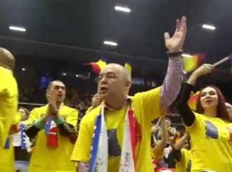 Suporter de lux la semifinala Franta - Romania din Fed Cup