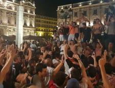 Suporterii Olympique Lyon au sarbatorit in strada calificarea echipei in semifinalele Ligii Campionilor