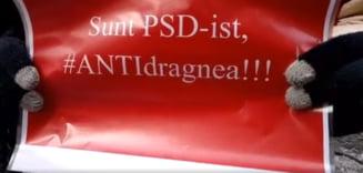 Surpriza la Sibiu: Un social-democrat s-a alaturat protestului anti-PSD: Sunt anti-Dragnea! (Video)