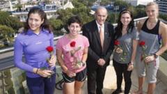 Surpriza pentru Simona Halep! A primit un trandafir rosu in dar, de Valentine's Day, de la organizatorii Dubai Open