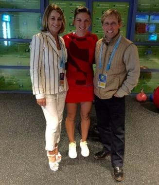 Sustinatori de lux pentru Simona Halep: Iata cine s-a aflat in tribune la Indian Wells (Foto)