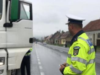 Sute de amenzi aplicate de politisti transportatorilor de marfuri in 2019