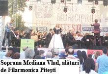 Sute de pitesteni, la concertul in aer liber