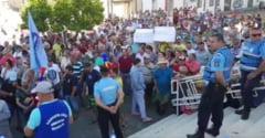 Sute de salariati de la Santierul Naval Mangalia protesteaza: Vrem sa traim, nu doar sa supravietuim! (Video)