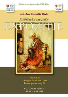 TABLOURI CUSUTE: Expozitie de goblenuri la Biblioteca ASTRA