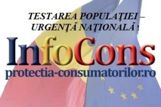 TESTAREA POPULATIEI - URGENTA NATIONALA! APELUL MISCARII DE PROTECTIA CONSUMATORILOR