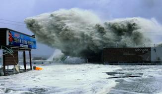 Taifunul Sanba face ravagii in Coreea de Sud