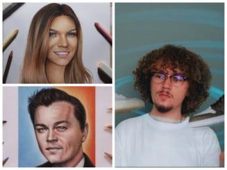 Talentul iesit din comun al lui Vlad, tanarul artist din Sebes ale carui desene sunt celebre in toata lumea. Disputa cu supervedeta Demi Lovato FOTO