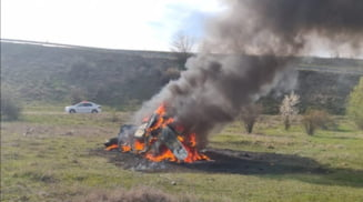 Tanar din Vitomiresti, ranit dupa ce a cazut zeci de metri in gol cu masina pe care o conducea. Vehiculul a luat foc