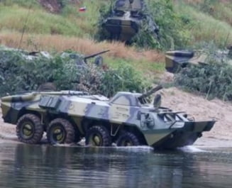 Tancuri din Transnistria au trecut Nistrul pe sub apa si au simulat un atac