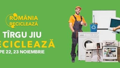 """Targu Jiu participa in campania """"Romania Recicleaza"""", pe 22 si 23 noiembrie"""