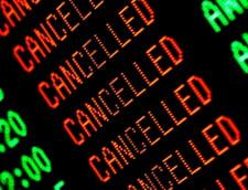 Tarom si Blue Air au anulat duminica si luni 90 de curse