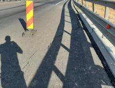 Tasare aparuta pe autostrada dintre Cunta si Saliste