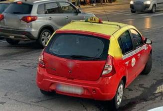 Taxi furat de pe o strada din Pitesti! Hotul nu avea permis de conducere