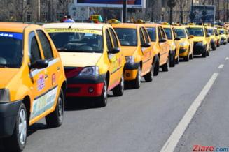 Taximetristii protesteaza in Bucuresti