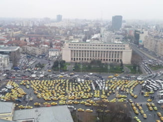 Taximetristii protesteaza miercuri in Bucuresti. Firea ii cere lui Dancila sa faca ceva ca sa nu se blocheze orasul