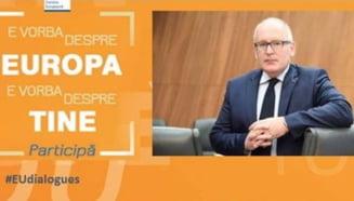 Te intereseaza viitorul UE? Vino sa discuti despre posibilele scenarii cu Frans Timmermans, prim-vicepresedinte al CE