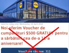 Teapa pe Facebook si WhatsApp cu vouchere false la Lidl si Carrefour