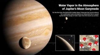 Telescopul Hubble a descoperit apă în atmosfera satelitului jovian Ganymede