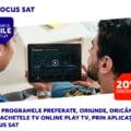 Testeaza 7 zile gratuit pachetele TV online Play TV de la Focus Sat