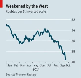 The Economist: Rusia, pe marginea prapastiei. Putin respinge un nou model economic