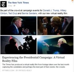 The New York Times i-a anuntat pe cei doi candidati pe care ii sustine pentru presedintia SUA