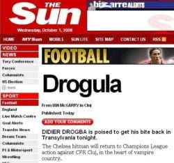 The Sun: Chelsea ia cu asalt CFR Cluj chiar in inima tarii vampirilor