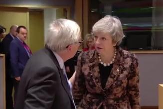 Theresa May, discutie aprinsa cu Juncker: Cum mi-ai spus? Mi-ai spus ca sunt zapacita. Asa mi-ai spus! (Video)