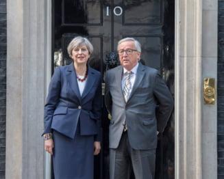"""Theresa May promite sa fie o """"femeie a naibii de dificila"""" cu Juncker in negocierile pentru iesirea din UE"""