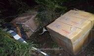 Tigari in valoare de 70.000 lei, abandonate de contrabandisti la Izvoarele Sucevei