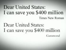 Times New Roman costa SUA sute de milioane de euro anual (Video)