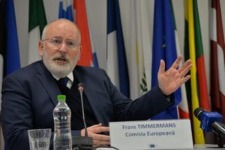Timmermans: Daca nu era membra UE, Romania risca ingerinte ruse precum cele din Ucraina